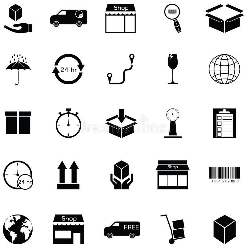 Sistema del icono de Logitstice libre illustration