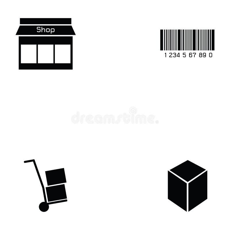 Sistema del icono de Logitstice stock de ilustración