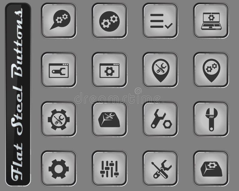 Sistema del icono de los ajustes libre illustration