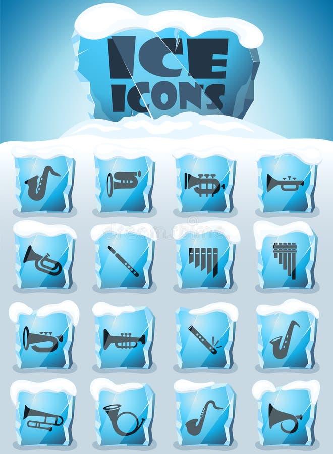 Sistema del icono de los instrumentoes de viento libre illustration