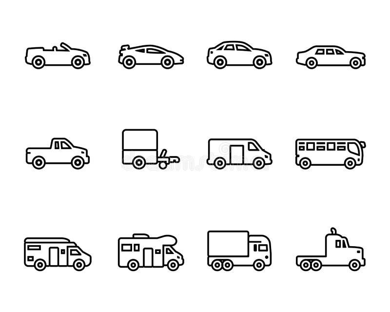 Sistema del icono de los vehículos libre illustration