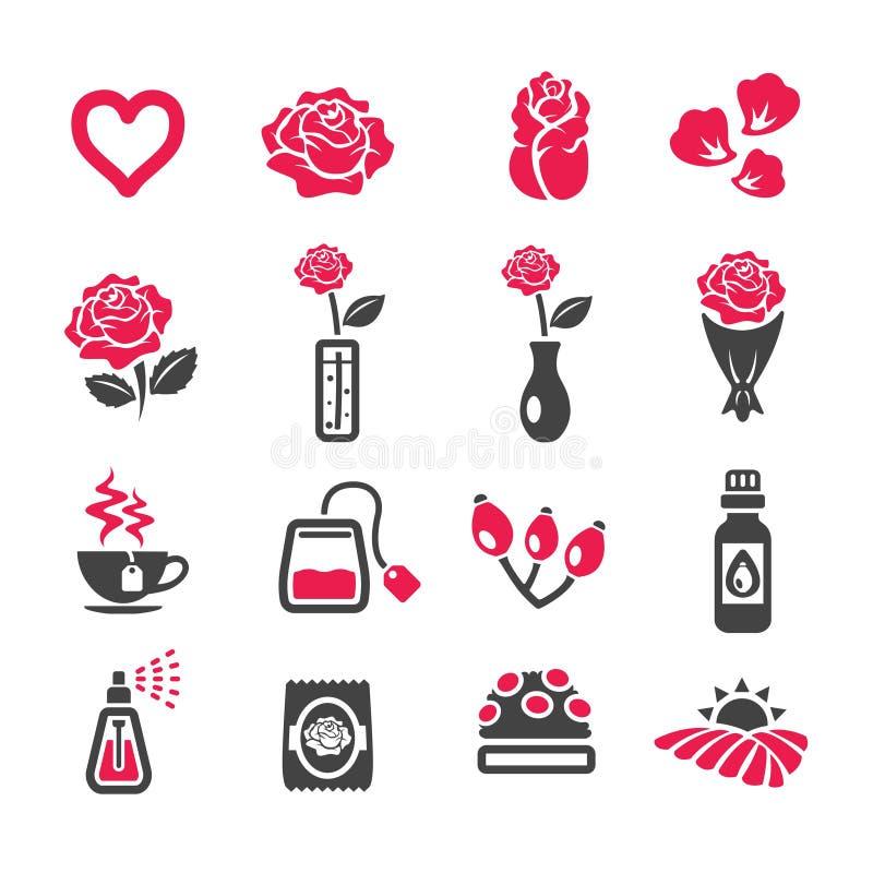 Sistema del icono de Rose libre illustration