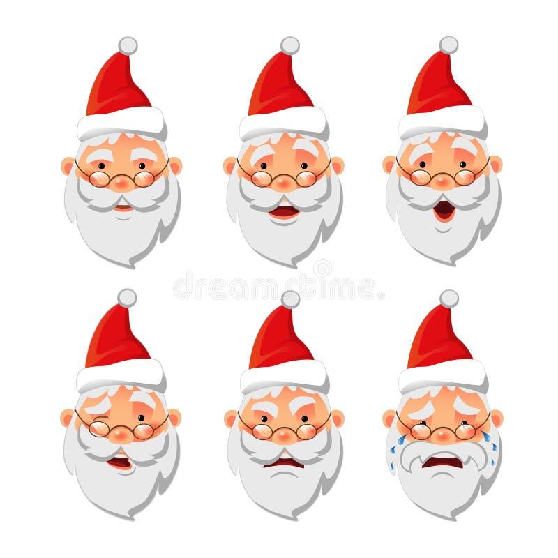 Sistema del icono de Santa Claus libre illustration