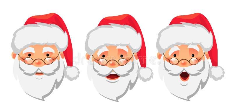 Sistema del icono de Santa Claus stock de ilustración