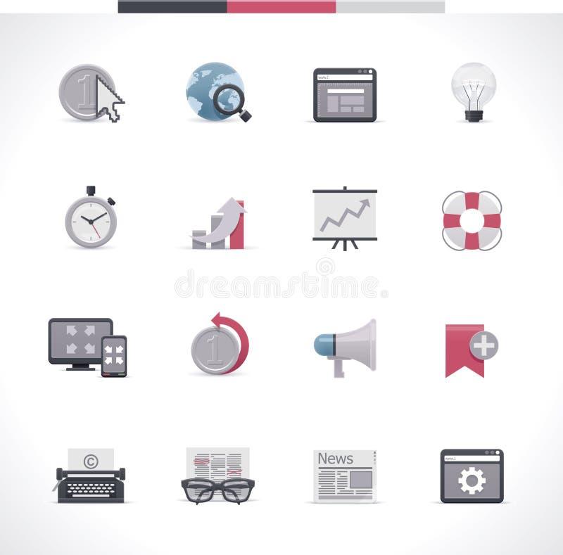 Sistema del icono de SEO. Parte 2 stock de ilustración