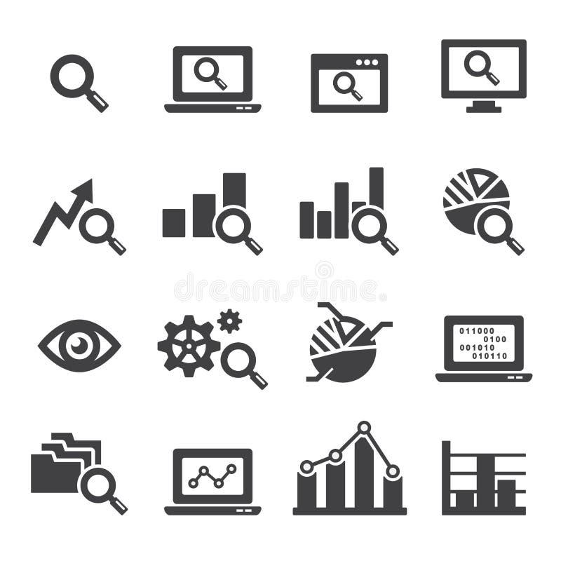 Sistema del icono del análisis stock de ilustración
