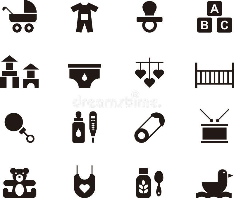 Sistema del icono del bebé y de los niños libre illustration