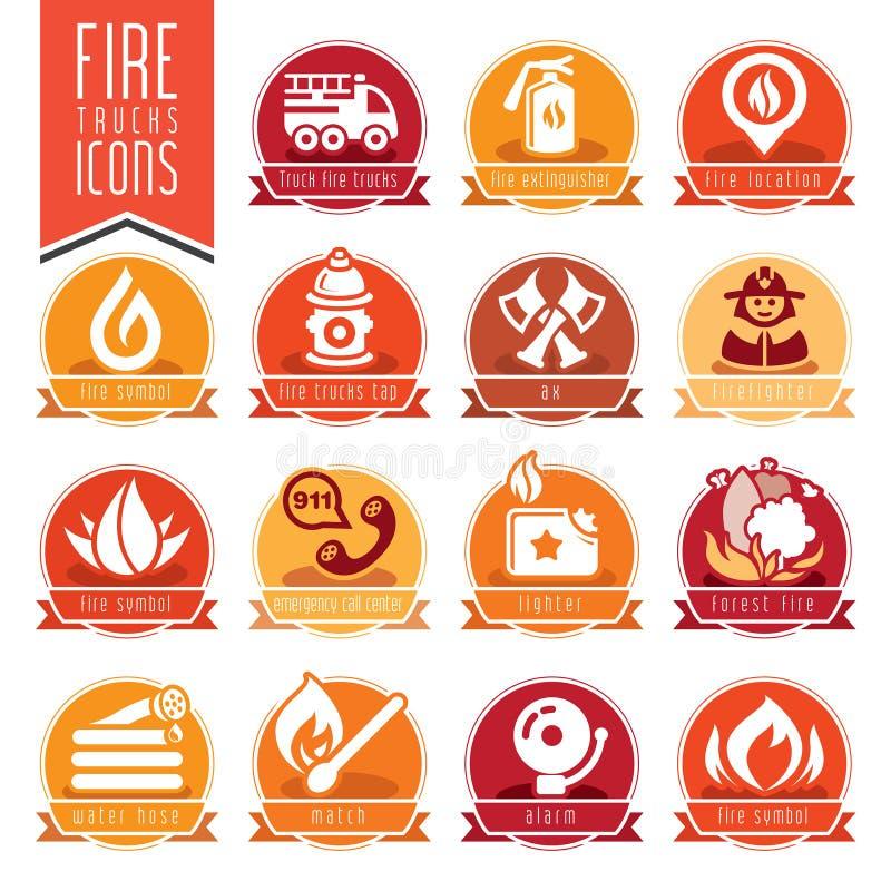 Sistema del icono del bombero libre illustration