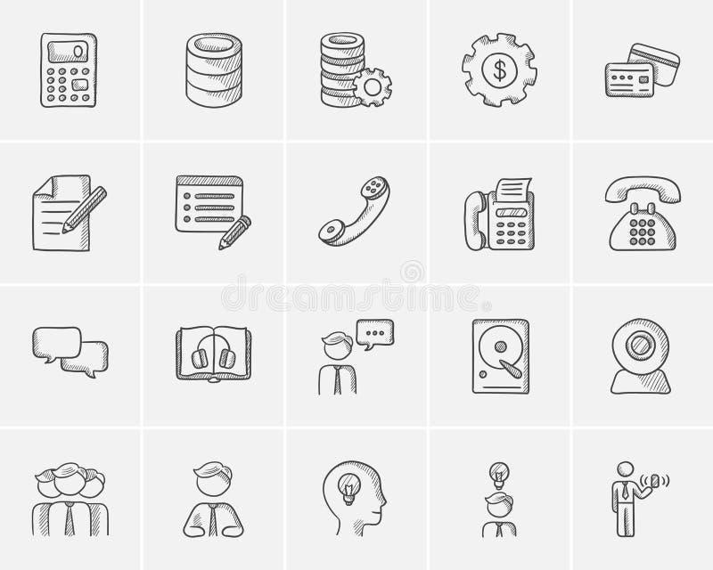 Sistema del icono del bosquejo de la tecnología libre illustration