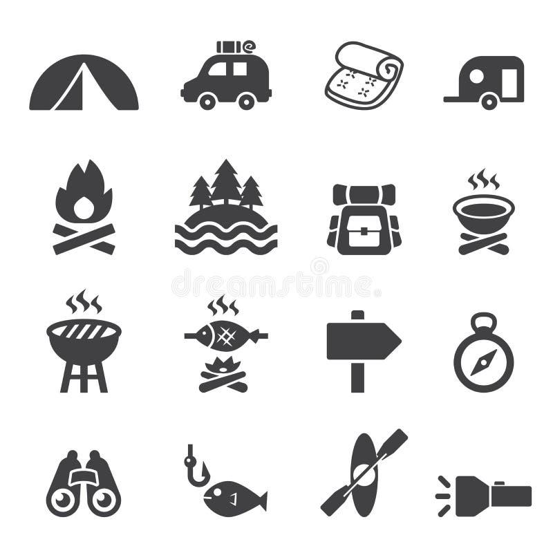 Sistema del icono del campo libre illustration