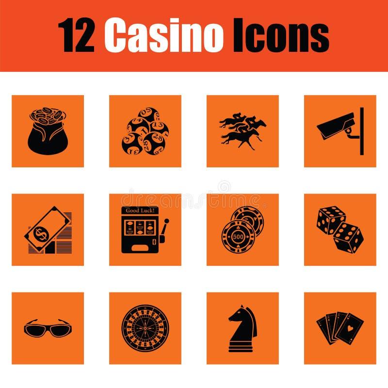 Sistema del icono del casino ilustración del vector