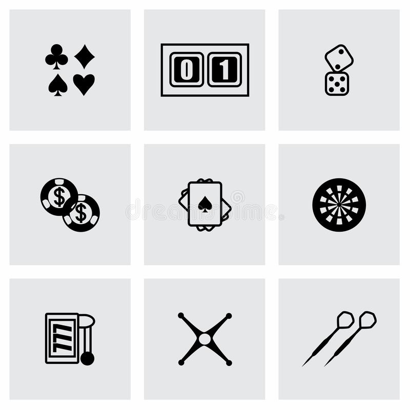 Sistema del icono del casino del vector ilustración del vector