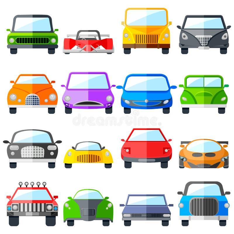 Sistema del icono del coche stock de ilustración