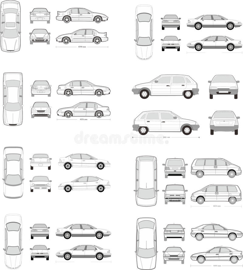 Sistema del icono del coche libre illustration
