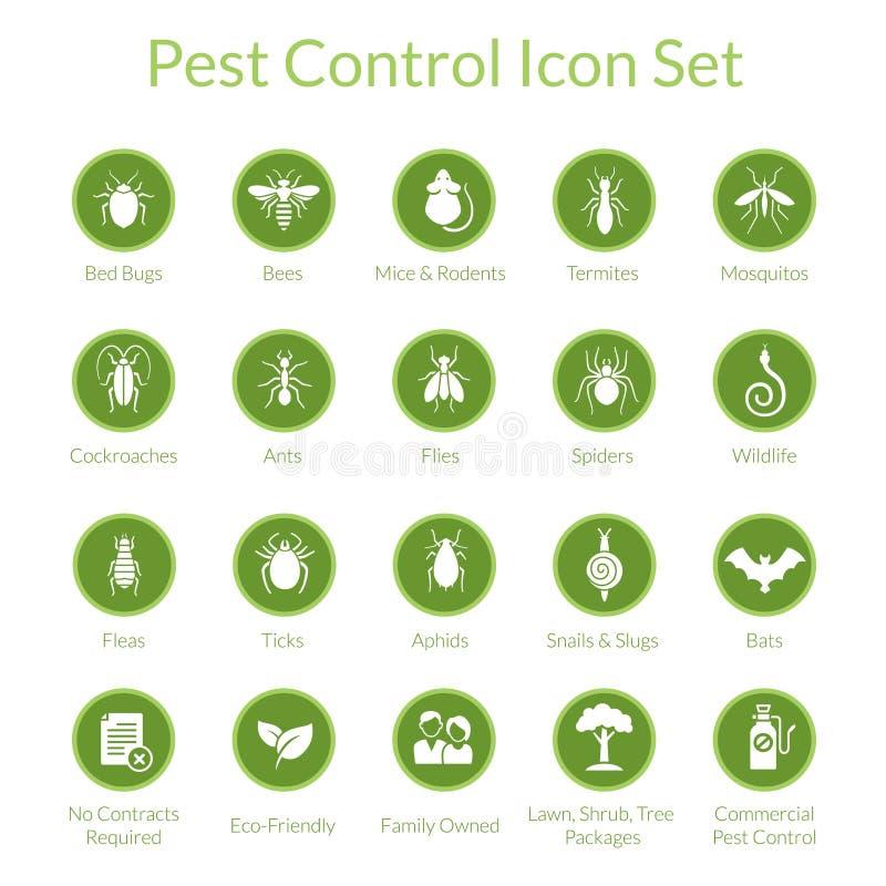 Sistema del icono del control de parásito libre illustration