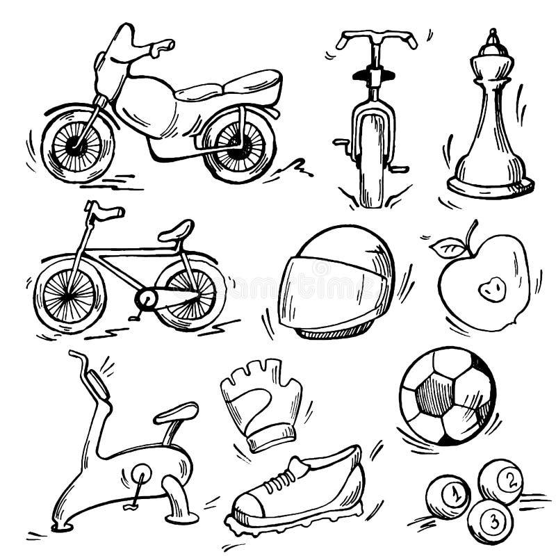 Sistema del icono del deporte ilustración del vector
