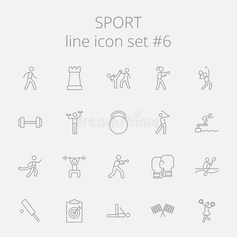Sistema del icono del deporte stock de ilustración