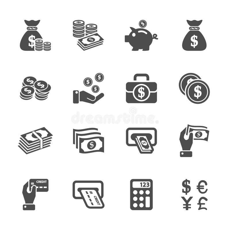 Sistema del icono del dinero, vector eps10 ilustración del vector