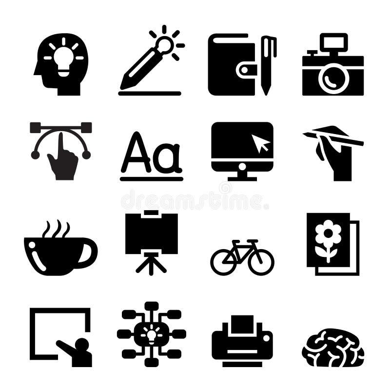 Sistema del icono del diseñador ilustración del vector