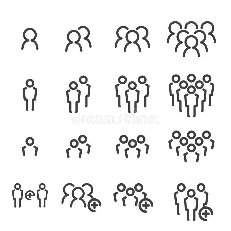 Sistema del icono del equipo ilustración del vector