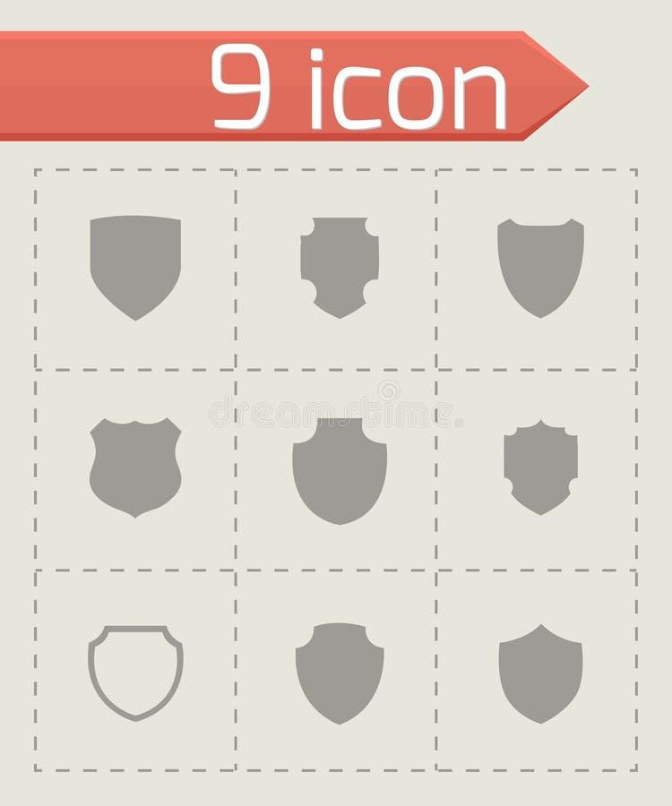 Sistema del icono del escudo del vector libre illustration