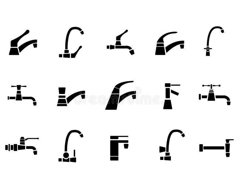 Sistema del icono del grifo libre illustration