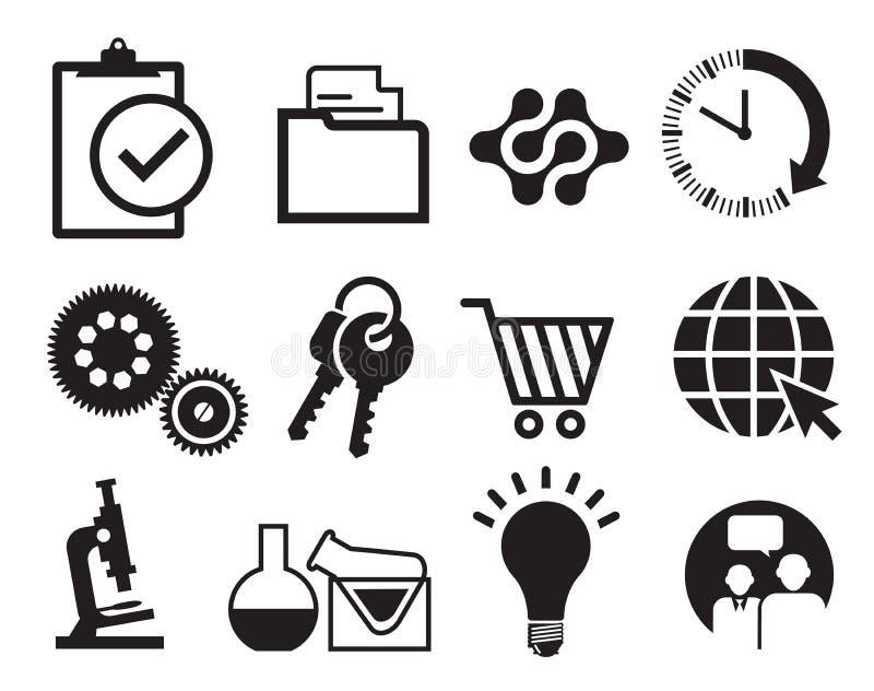 sistema del icono del infographics stock de ilustración