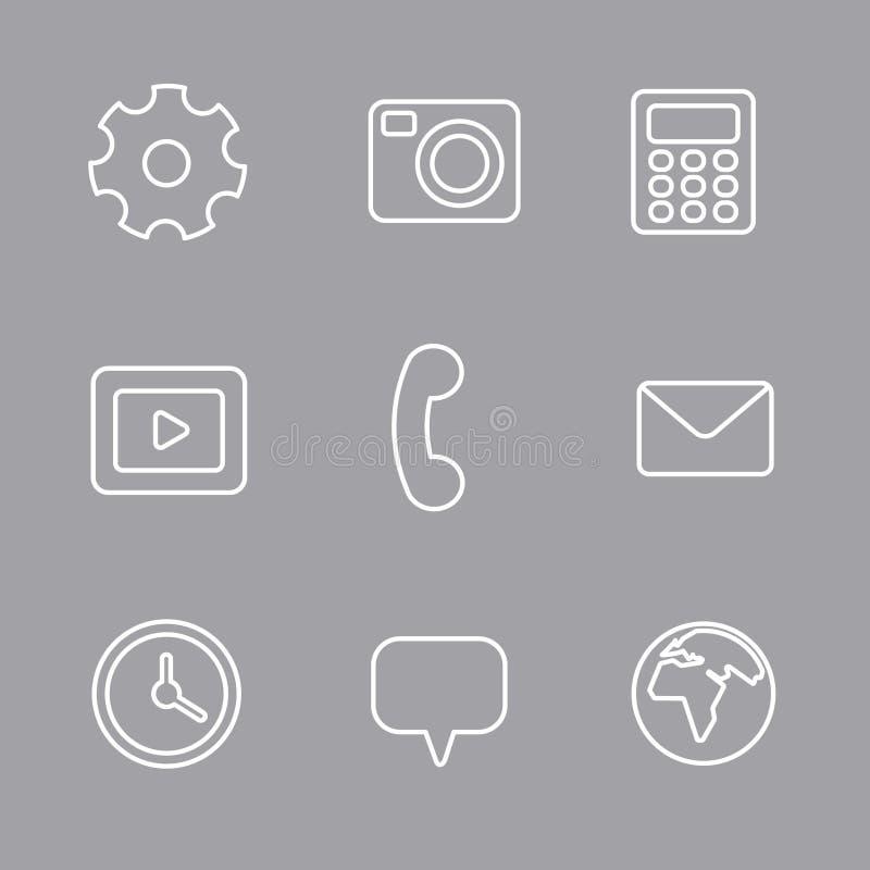 Sistema del icono del interfaz stock de ilustración