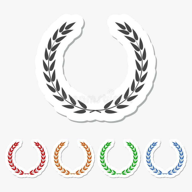 Sistema del icono del laurel libre illustration