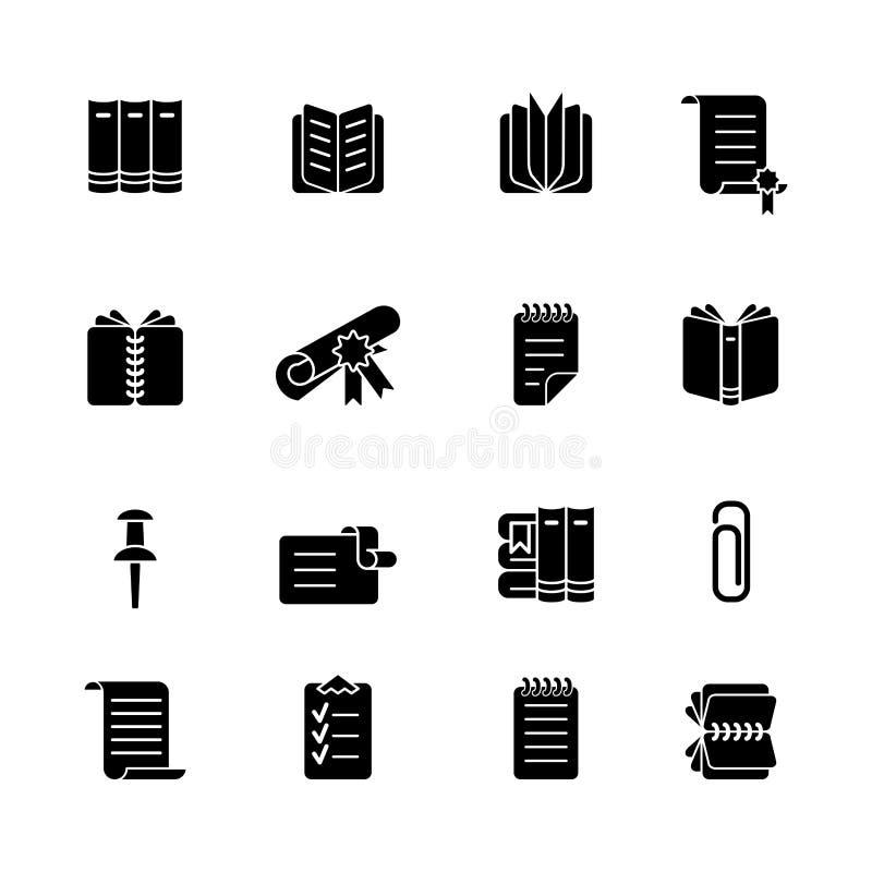 Sistema del icono del libro y de los efectos de escritorio libre illustration