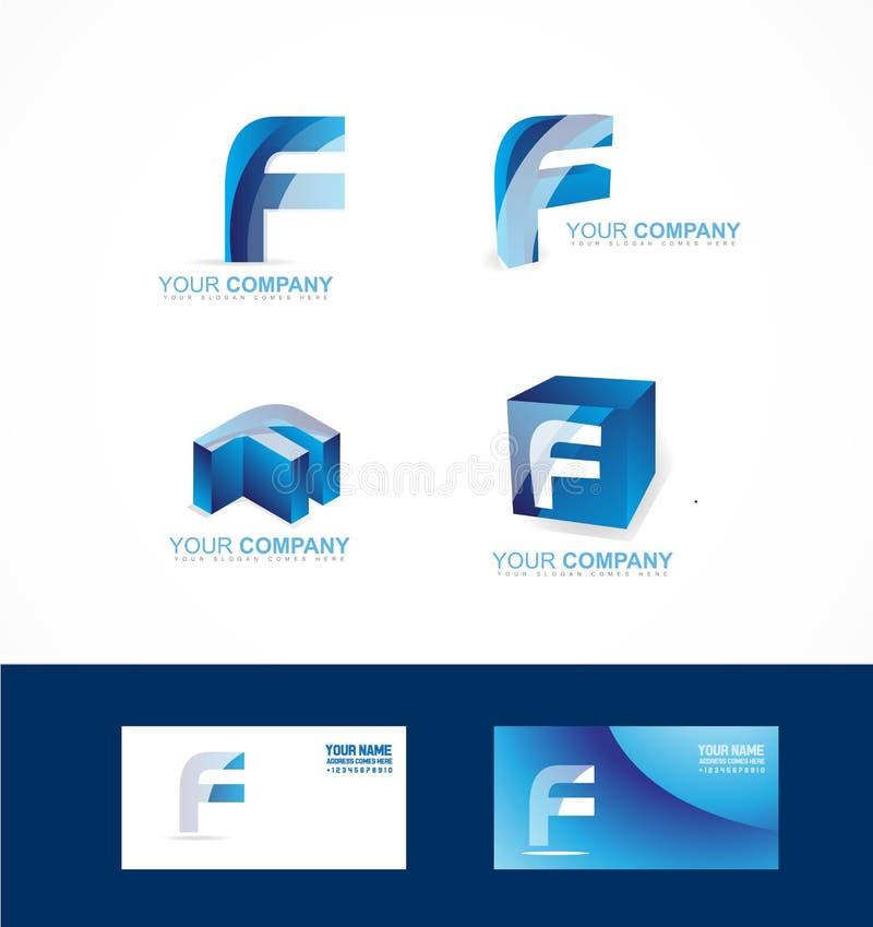 Sistema del icono del logotipo de la letra f libre illustration