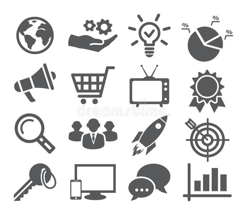 Sistema del icono del márketing ilustración del vector