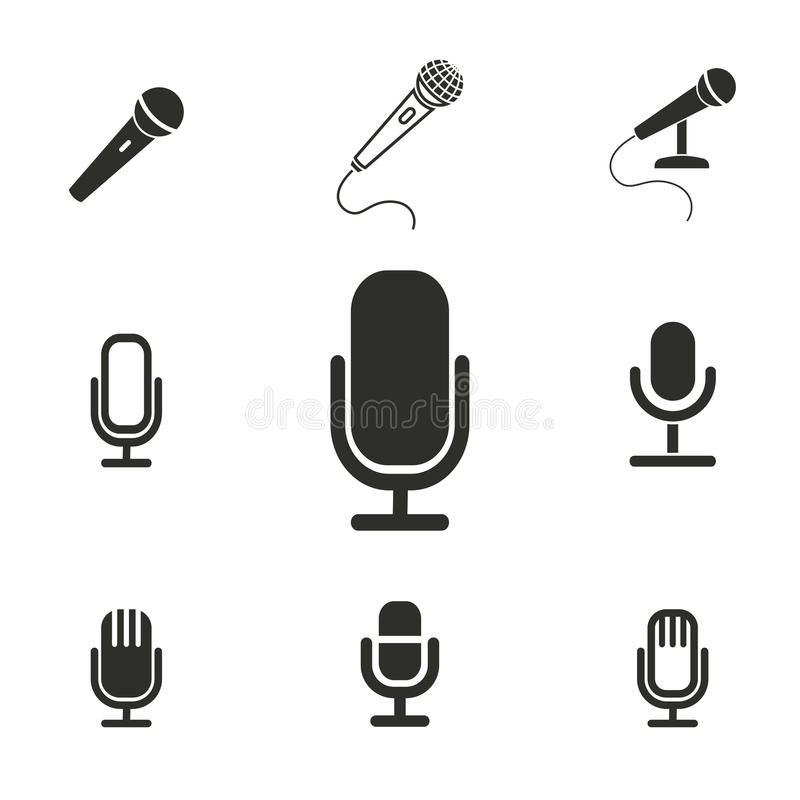 Sistema del icono del micrófono libre illustration