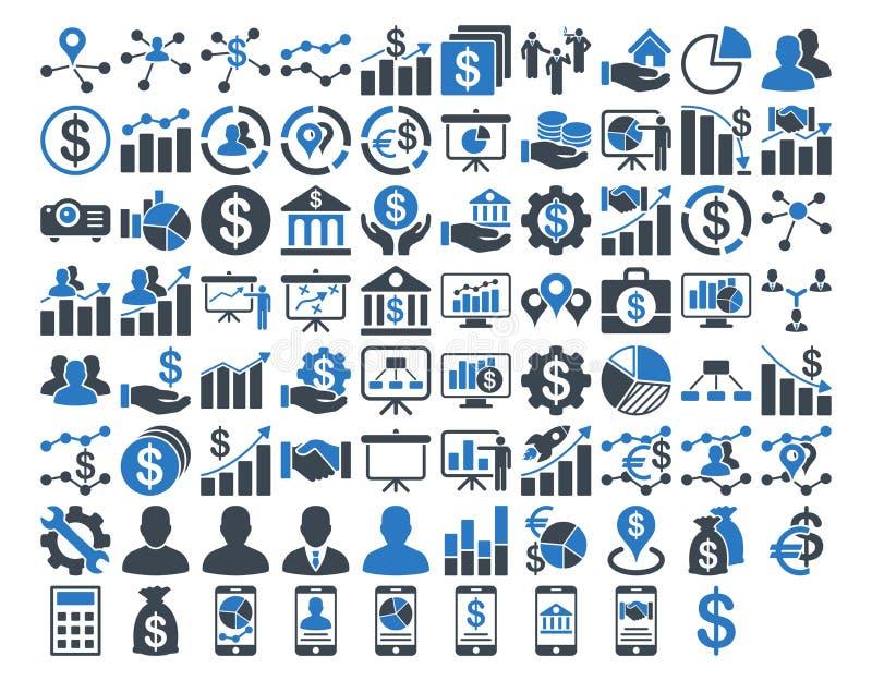 Sistema del icono del negocio libre illustration