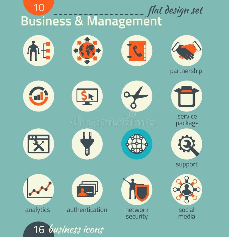 Sistema del icono del negocio Software y desarrollo web, comercializando stock de ilustración