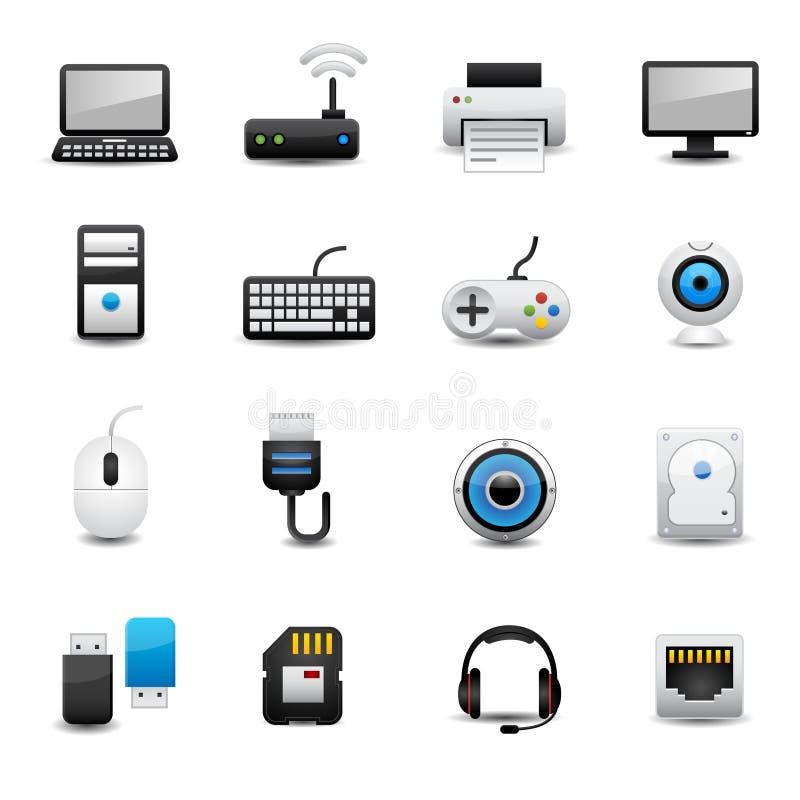 Sistema del icono del ordenador libre illustration