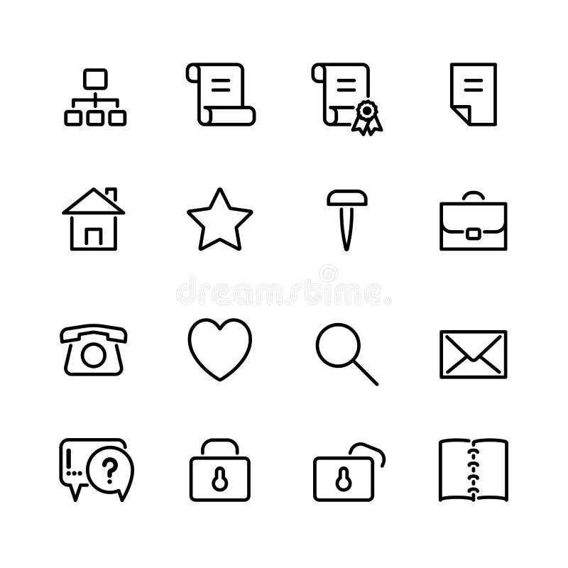 Sistema del icono del ordenador stock de ilustración