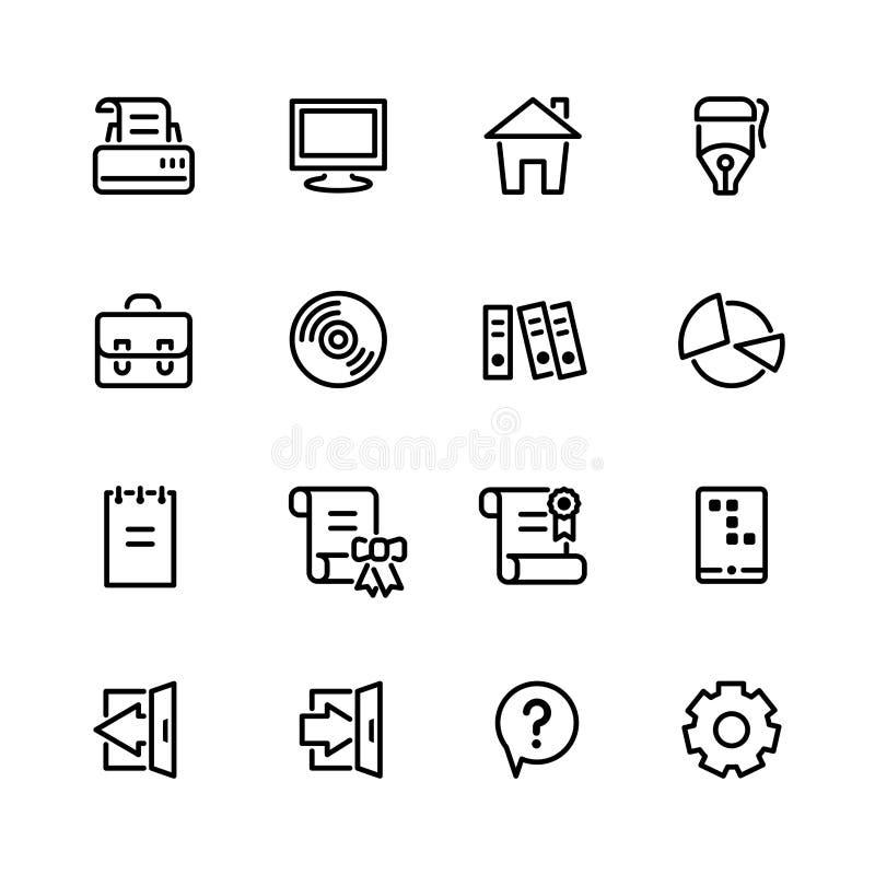 Sistema del icono del ordenador ilustración del vector