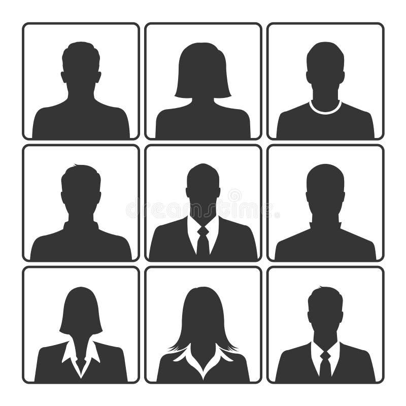 Sistema del icono del retrato libre illustration