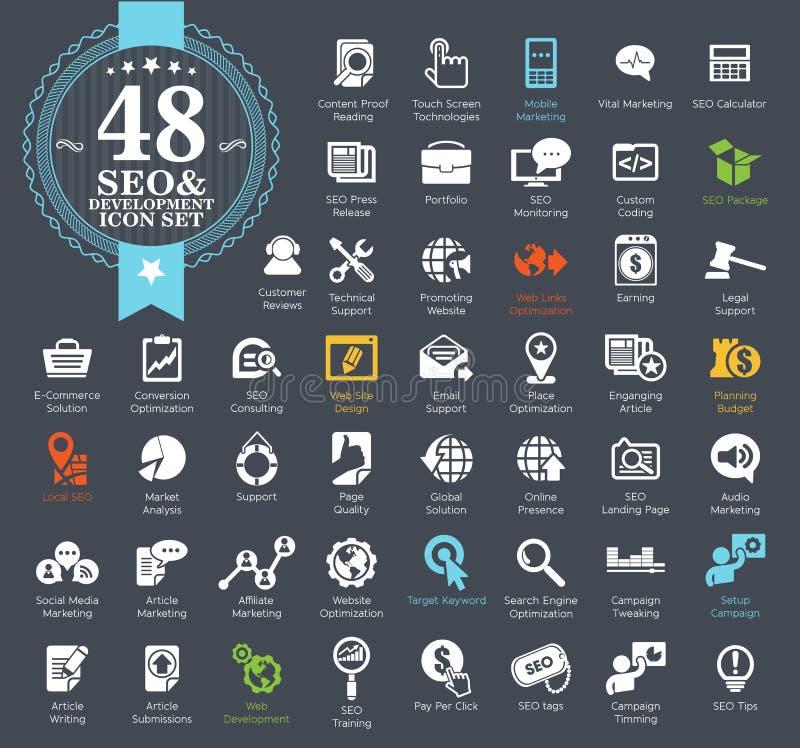 Sistema del icono del seo del web