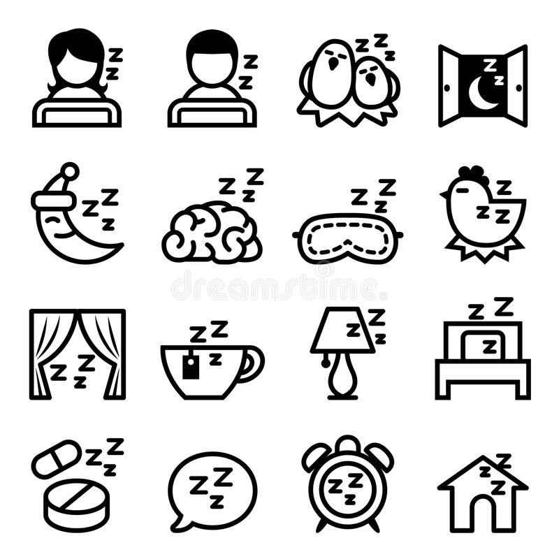 Sistema del icono del sueño libre illustration
