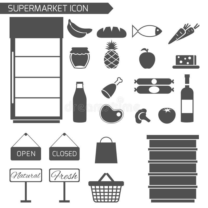 Sistema del icono del supermercado libre illustration