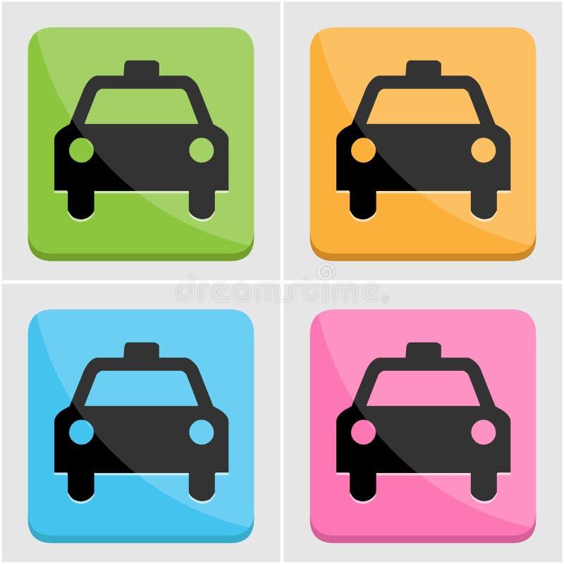 Sistema del icono del taxi fotografía de archivo libre de regalías