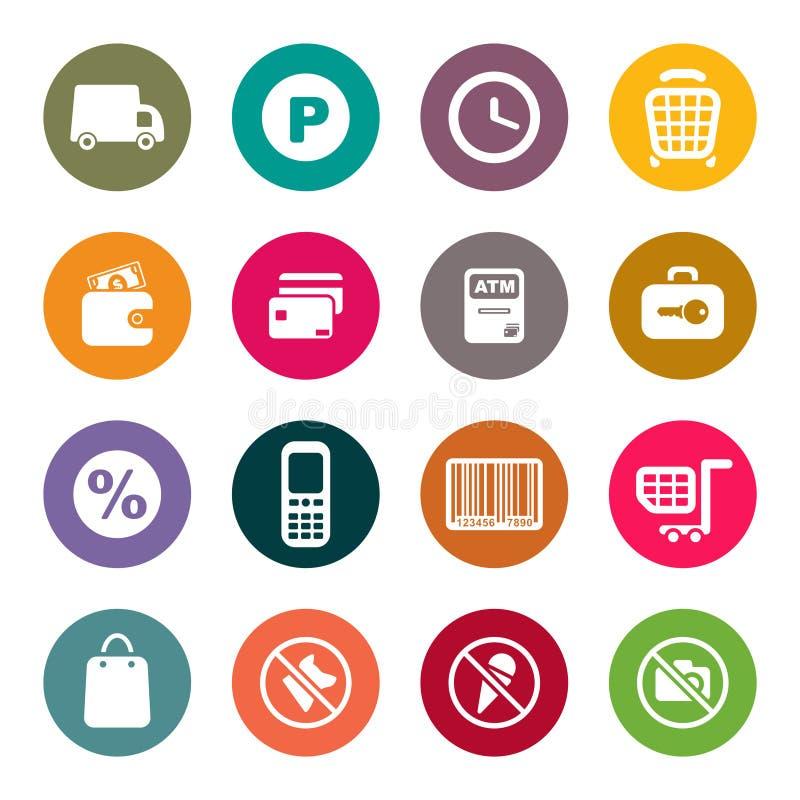 Sistema del icono del tema de las compras libre illustration