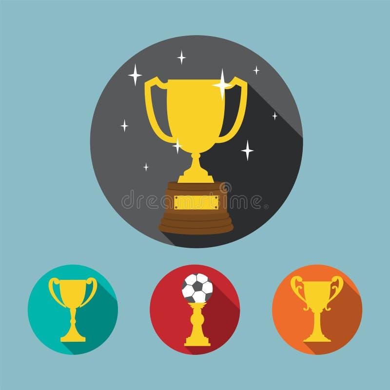 Sistema del icono del trofeo libre illustration