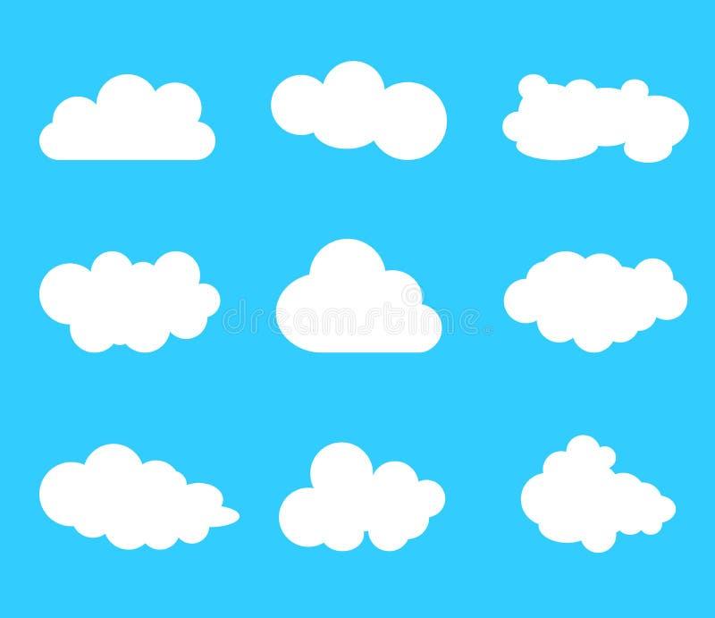 Sistema del icono del vector de la nube libre illustration