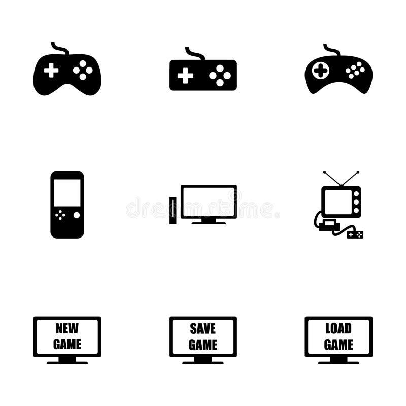 Sistema del icono del videojuego del vector stock de ilustración