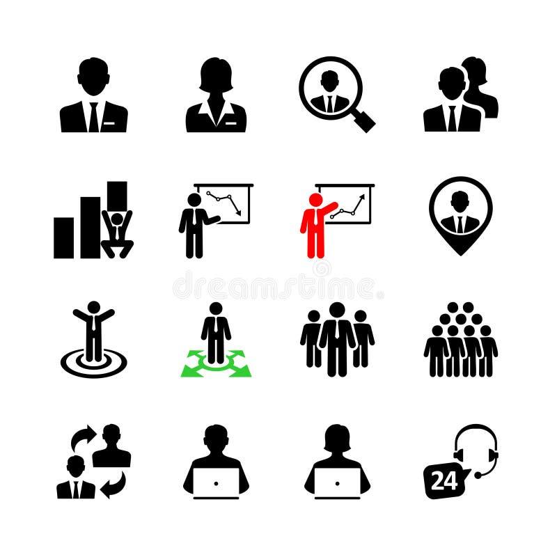 Sistema del icono del web del negocio ilustración del vector