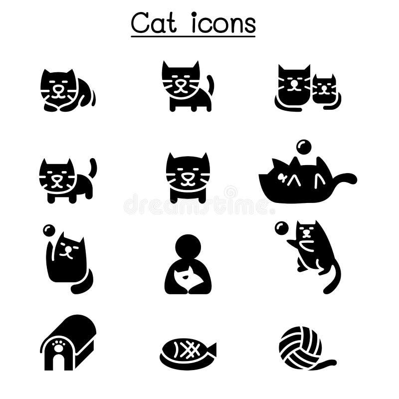 Sistema del icono del gato libre illustration
