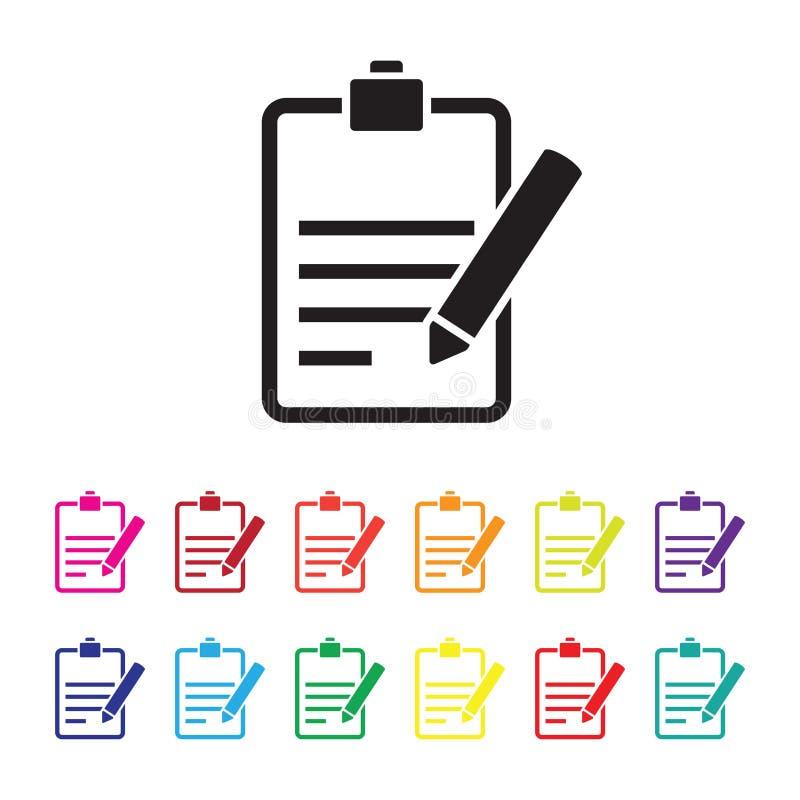 Sistema del icono del informe de la reacción libre illustration